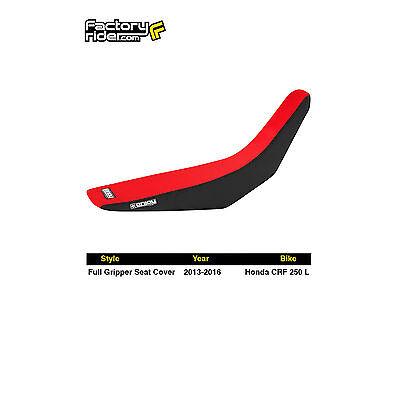 2013-2016 HONDA CRF 250 L Black/Red FULL GRIPPER SEAT COVER BY Enjoy MFG