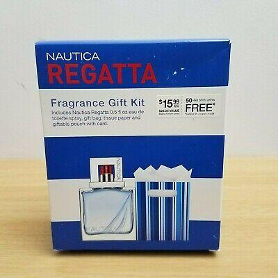 Nautica Regatta for Men Fragrance .5 oz Eau de Toillette Spray Gift Kit NIB