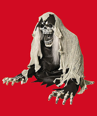Life Size Wretched Reaper Animated Zombie Ghoul Fog Machine Accessory Haunt Prop