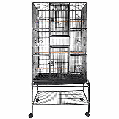 "69""Large Bird Cage Parrot w/Stand 2 Doors Pet Supply Cockatiel Conure Chinchilla"