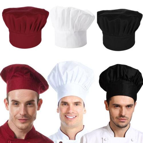 Schirmmütze Kochmütze Schwarz Rot Weiß Kochhaube Mütze Hut NEU