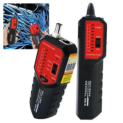 Cable Wire Tester Tracker Locator Rj45 Rj11 Bnc Stp Utp Circuit Status Checking