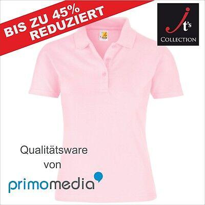 Poloshirt Hochwertig Damen Frauen Schwarz Weiß Rosa Bedruckbar Sportlich Günstig (Frauen Polo-shirts)
