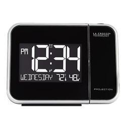 La Crosse Technology 616-1412 Projection Alarm Clock with Indoor Temperature,