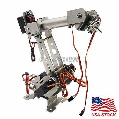 6dof Mechanical Robotic Arm Clamp With Servos Diy Kit For Robot Smart Car Panusa