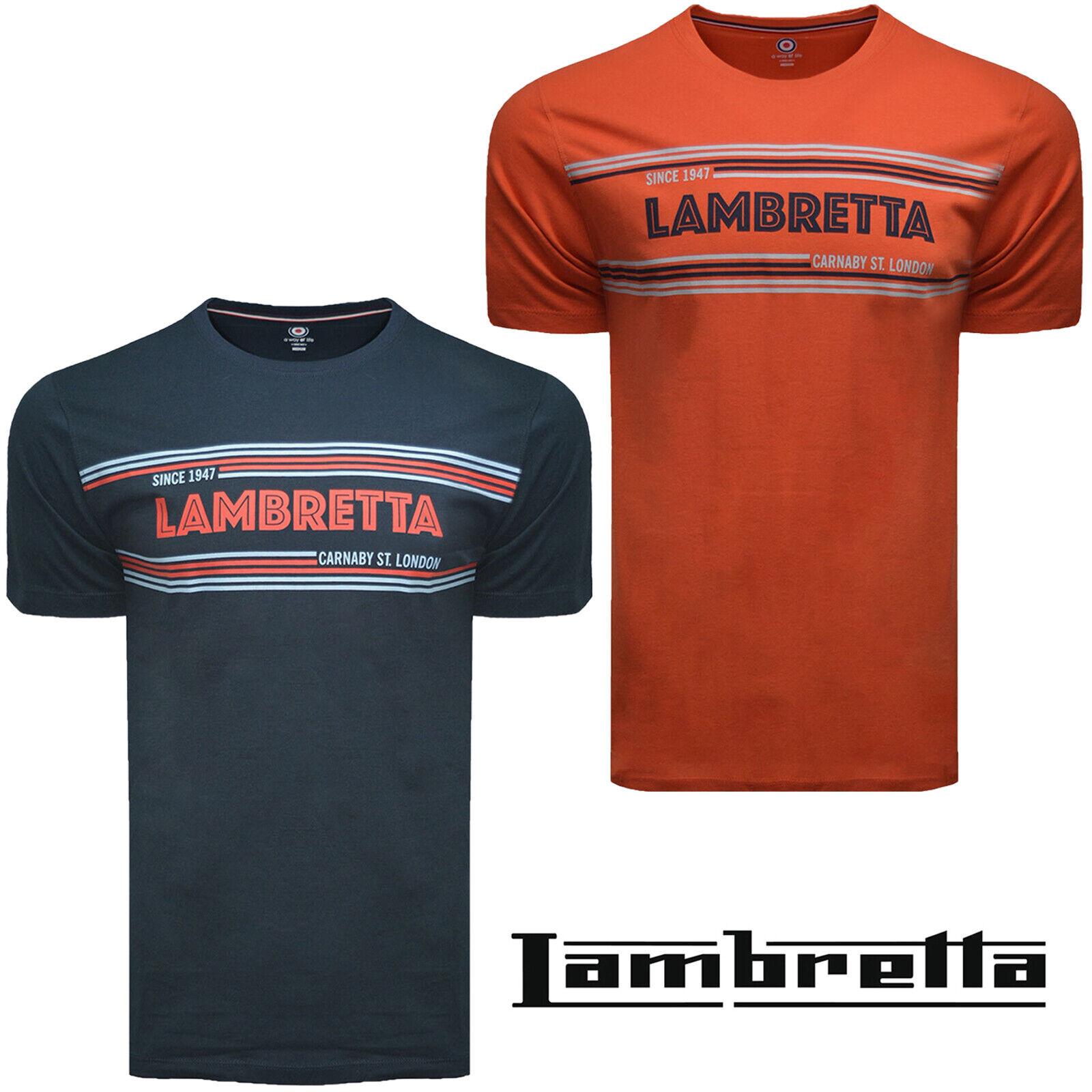 Lambretta T-Shirts Print Short Sleeve A Way Of Life Mens Retro Cotton UK S-4XL