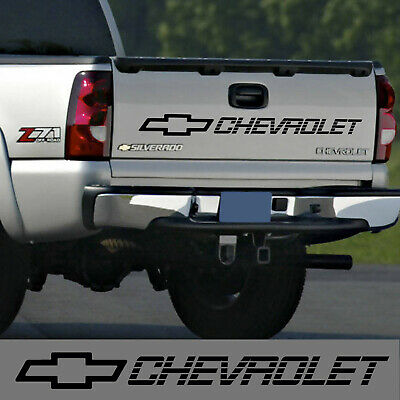 Chevrolet tailgate decal sticker silverado z71 lt ls 1500 2500 chevy black