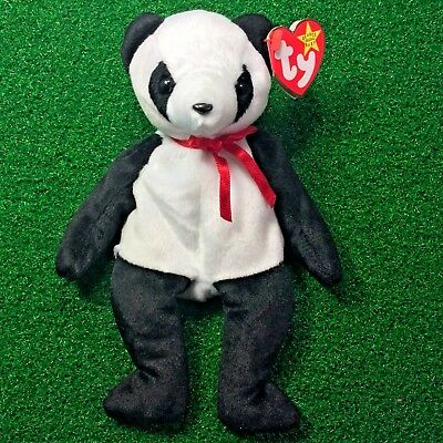 Ty Beanie Baby Fortune Panda Bear 1997 RETIRED Plush Toy - MWMT