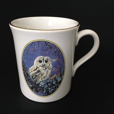 Vintage Pollyanna Pickering Collection NIGHT OWL coffee tea Mug Made in England