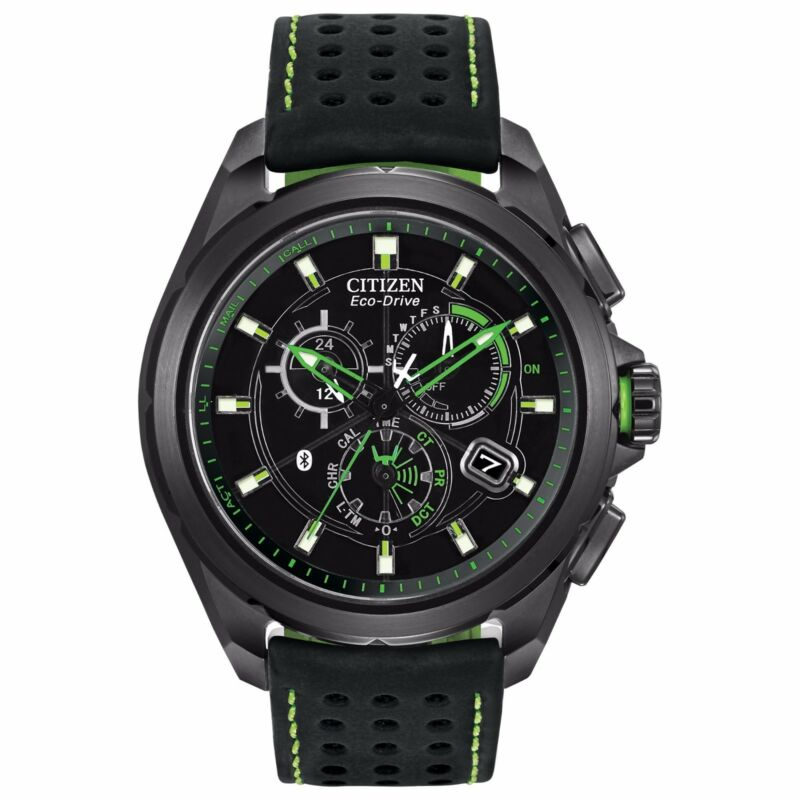 Citizen Eco-Drive Men's AT7035-01E Proximity Chronograph Bluetooth Green Watch