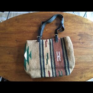 leather/wool bags