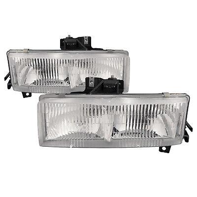 Headlight Set Fits Chevrolet Express / Savana Van 96-02