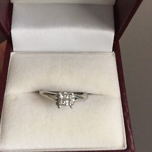 Reduced to sell! 10kt white gold and diamond ring