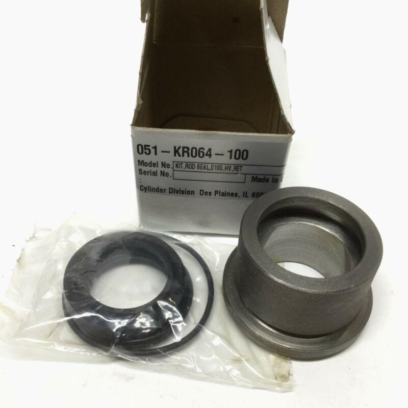 """Miller 051-KR064-100 Retainer Bushing 1"""" Rod Seal Iron Gland Cylinder Repair Kit"""