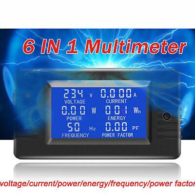 100a Ac Lcd Panel Digital Power Watt Meter Monitor Voltage Wh Voltmeter Ammeter
