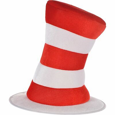 Adult Dr. Seuss Cat in the Hat Top Hat, Halloween Costume, 12 1/2