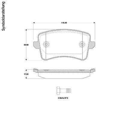 Bremsbeläge Bremsbelagsatz Klötze hinten Audi A4 + Avant 8K + Montagepaste