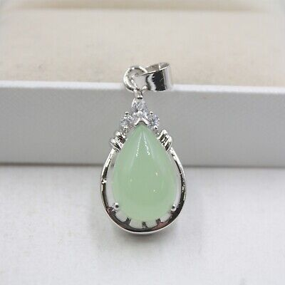 Best GP Alloy & Natural Jade Zircon Women Lucky Peach Tip Pendant