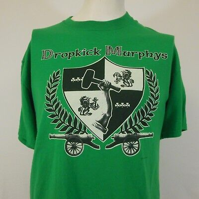 Dropkick Murphys vtg 2000 green Coat of Arms logo T-shirt XL Irish Punk - Coat Of Arms Green T-shirt
