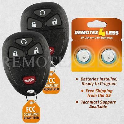 2 For 2007 2008 2009 2010 2011 2012 2013 GMC Sierra 1500 2500 Remote Car Key Fob