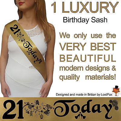 21ST BIRTHDAY GIRL PARTY SASH NIGHT OUT ACCESSORY GIRLS SASHES TWENTYFIRST FUN - 21st Birthday Girl Accessories