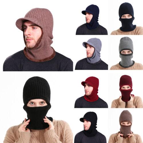 Unisex Men Women Winter Balaclava Hats Beanie Cap Knit Scarf