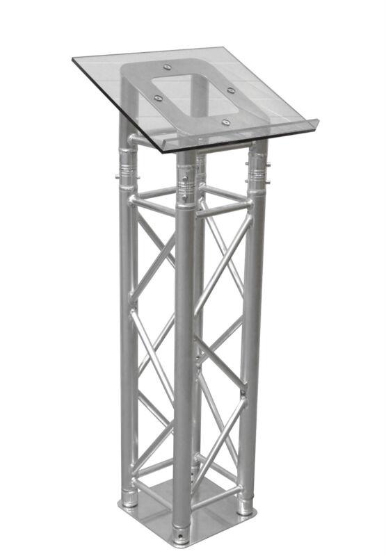 Lectern/Podium/Box truss podium with plexiglass top