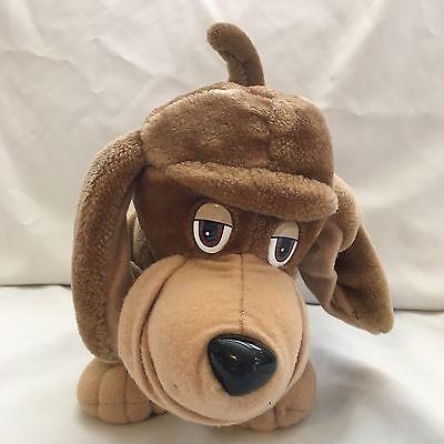 "Pooch Patrol Hound Dog Brown Tan Teeth Show Or Not Vintage Tonka Plush 12"" Toy"