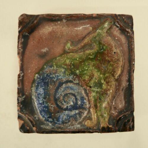 Vintage Tile Snail Mythological Creature Russel Crook?