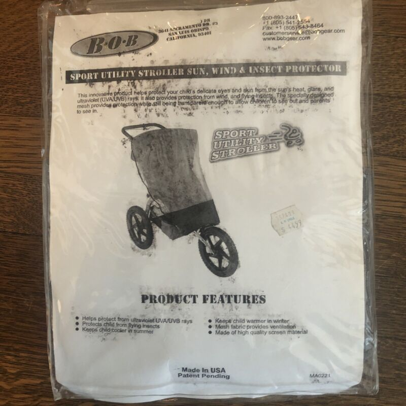 New-in-Package BOB Sport Utility Stroller Sun,Wind, & Insect Protector #MA0221