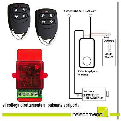 Apriporta elettroserratura - serratura elettrica con 2 telecomandi rolling code