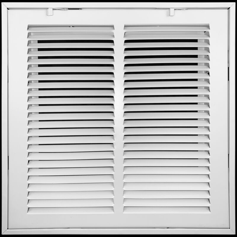 Heavy Duty Steel Return Air Filter Grille   HVAC Vent Cover Grill, White