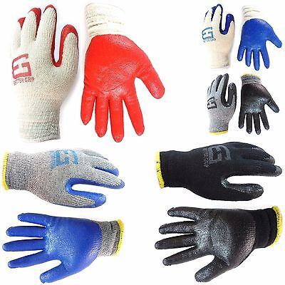 240 Pairs Better Grip Premium Double Dipped Latex Coated Work Gloves