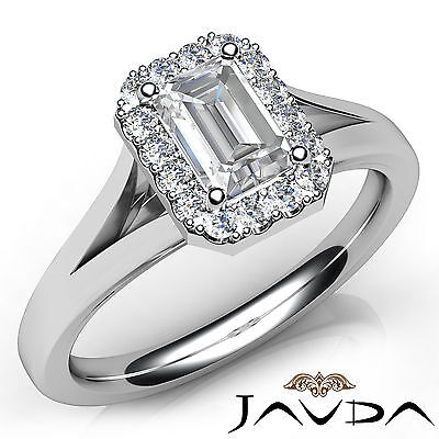 Solitaire Style Split Shank Emerald Diamond Engagement Ring GIA H VVS2 0.70 Ct