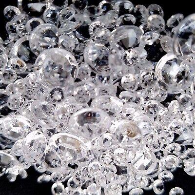 2000 X Transparente Boda Lluvia Cristales Decoración Diamante Confeti Surtido