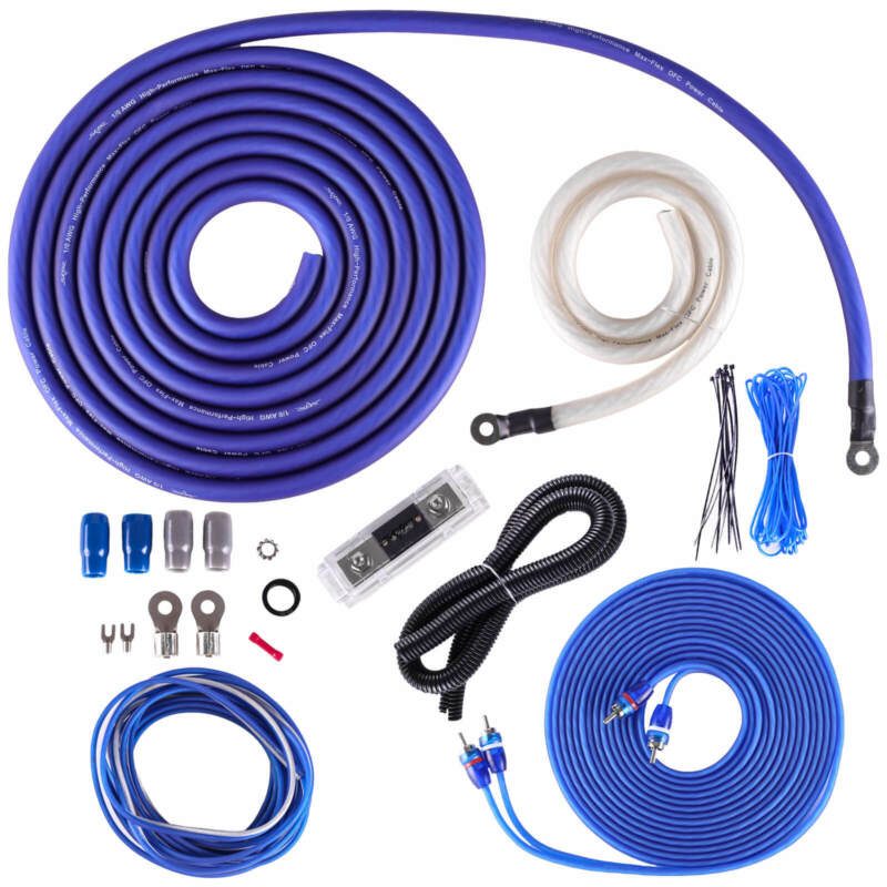 NEW SKAR AUDIO 1/0 GAUGE 3000 WATT OFC AMPLIFIER WIRING KIT W RCA (SKAR0ANL-OFC)