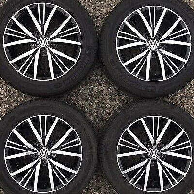 "Genuine VW Golf Mk7 Linas 16"" Alloy Wheels Tyres 205 55 Caddy 20 spoke Polished"