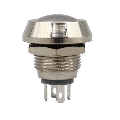 1pcs Waterproof 12mm Metal 4pin Momentary 1no 1nc Mini Domed Push Button Switch