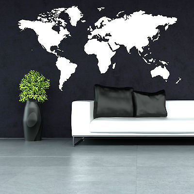World Map Vinyl Wall Art Room Sticker Decal Contemporary