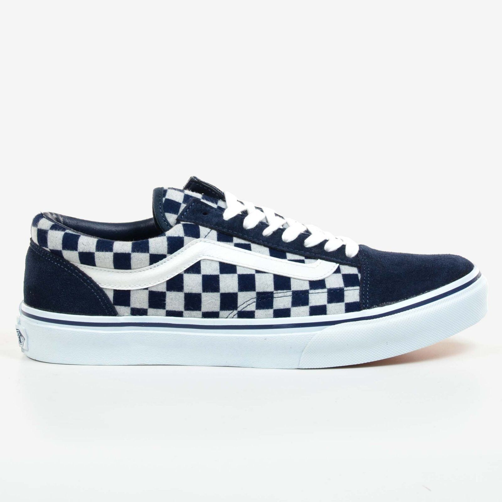 vans old skool blue checkered