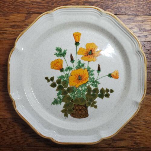 "Vintage Mikasa Garden Club Petunias 10 3/4"" Dinner Plate EC 401 - EXCELLENT!!"