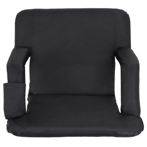 Portable 2 Pieces Black Stadium Seat Gym Reclining Seat 5 Adjustable Positions Other Outdoor Sports
