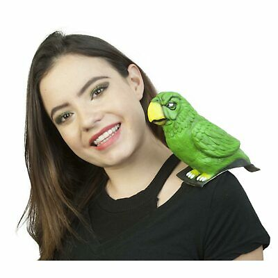 Shoulder Buddy Green Parrot Bird Animal Hook Pirate Costume Accessory Men Women (Parrot Pirate Costume)