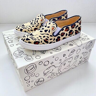 INCY Charlotte Olympia Feral Cats Kids Slip Ons