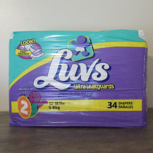 Vintage Luvs Diaper Size 2 34 Count Closed Pack
