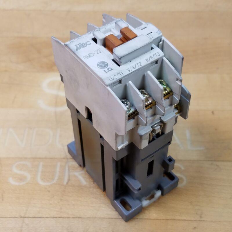 MEC GMD-22 Contactor 24 VDC Coil 220V 20 Amp, 440 V. 20 Amp - USED