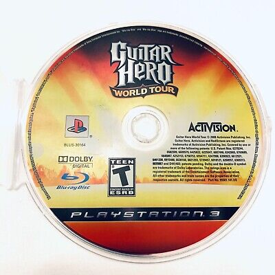 Guitar Hero: World Tour (Sony PlayStation 3, 2008) Disc Only & Tested  for sale  Shipping to Nigeria