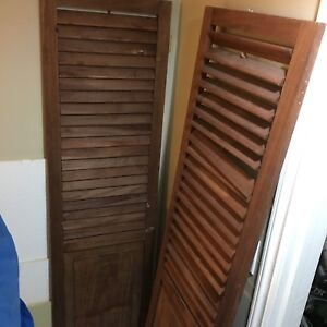 2 wood shutters for sale. 17 inch x 71