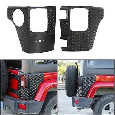 Rear Corner Guards Body Armor Corner Cover 4 Door For Jeep Wrangler JK 07-18