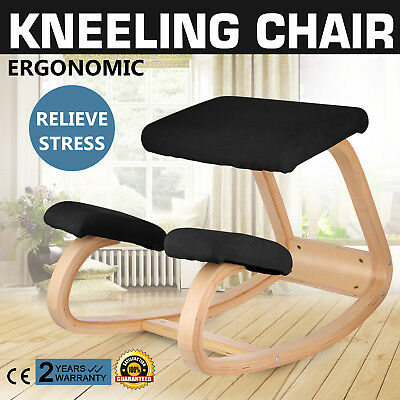 Ergonomic Kneeling Chair Adjustable Bentwood Ergonomically Stool Relieve Stress